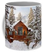 Cabin In Snow Coffee Mug