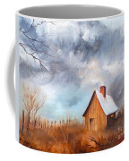 Cabin With Fence Coffee Mug