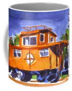 Caboose With Silver Signal Coffee Mug