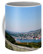 Cabot Tower Overlooking The Port City Of St. John's Coffee Mug