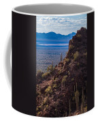 Cacti Covered Rock At Tucson Mountains Coffee Mug