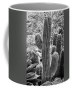 Cacti Habitat Bw Coffee Mug by Kelley King