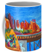 Cacti With Red Rocks And Rr Trestle Coffee Mug