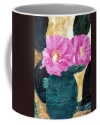 Cactus And The Pink Flower Coffee Mug