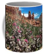 Cactus Flowers And Red Rocks Coffee Mug