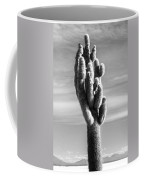 Cactus Island Salt Flats Black And White Coffee Mug