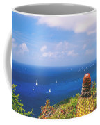 Cactus Overlooking Ocean Coffee Mug