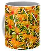 Cactus Pattern 2 Yellow Coffee Mug by Amy Vangsgard