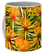 Cactus Pattern 3 Yellow Coffee Mug by Amy Vangsgard