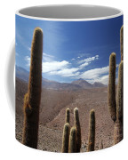 Cactus With The Andes Mountains Coffee Mug