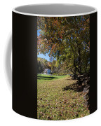 Cades Cove House And Fall Colors Coffee Mug