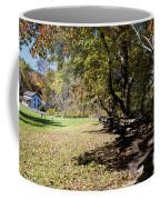 Cades Cove House And Split Rail Fence Coffee Mug