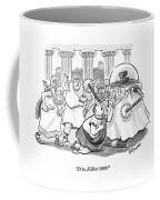 Caesar Is Murdered By Historical Mob Coffee Mug