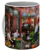 Cafe - Hoboken Nj - A Day Out  Coffee Mug
