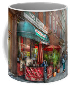 Cafe - Hoboken Nj - Vito's Italian Deli  Coffee Mug by Mike Savad