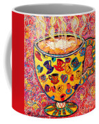 Cafe Latte - Coffee Cup With Colorful Coffee Cups Some Pink And Bubbles  Coffee Mug