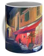 Cafe Scene Cannes France Coffee Mug