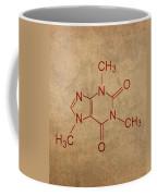 Caffeine Molecule Coffee Fanatic Humor Art Poster Coffee Mug