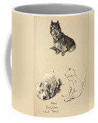 Cairn, Sealyham And Bull Terrier, 1930 Coffee Mug