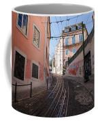 Calcada Da Gloria Street In Lisbon Coffee Mug