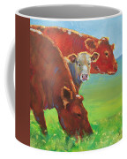 Calf And Cows Painting Coffee Mug
