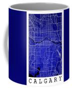 Calgary Street Map - Calgary Canada Road Map Art On Colored Back Coffee Mug