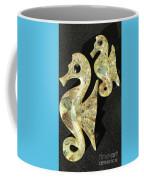 California Mid Century Modern Abalone Sea Horses Coffee Mug