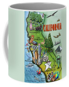 California Cartoon Map Coffee Mug