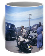 California Highway Patrol Harley Davidson Circa 1948 Coffee Mug