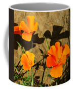California Poppies - Crisp Shadows From The Desert Sun  Coffee Mug