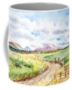 Californian Landscape Saint Johns Ranch Of Mountain Shasta County Coffee Mug