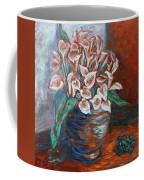 Calla Lilies And Frog Coffee Mug