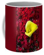 Calla Lily In Red Kalanchoe Coffee Mug