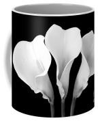 Calla Lily Trio In Black And White Coffee Mug