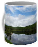 Calm Lake - Turbulent Sky Coffee Mug by Georgia Mizuleva