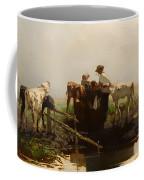Calves At A Trough Coffee Mug