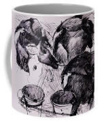 Calves, Damp, Newborn, 1978 Pen & Ink On Paper Coffee Mug
