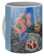 Camellias With Glass Beads Coffee Mug