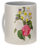 Camellias Narcissus And Pansies Coffee Mug