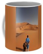 Camels In Sahara Desert. Erg Chebbi Coffee Mug