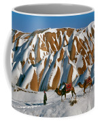 Camels On The Snow Coffee Mug