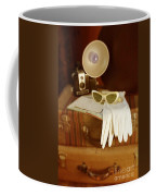 Camera Sunglasses On Luggage Coffee Mug