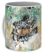 Camouflaged Mule Deer Buck In Winter Coffee Mug
