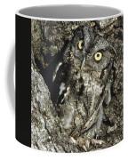 Camouflaged Screech Owl Coffee Mug