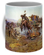 Camp Cooks Trouble Coffee Mug by Charles Russell