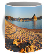 Campfire Ring On Lone Rock Beach  Coffee Mug