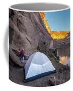 Camping Along The Labyrinth Canyon Coffee Mug