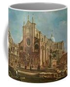 Campo Dei Santi Giovanni E Paolo And The Scuola Grande Di San Marco, Venice Oil On Canvas Coffee Mug