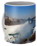 Canada And America At Niagara Falls Coffee Mug
