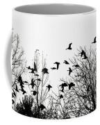 Canada Geese Flight Silhouette Coffee Mug